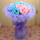 Paper rose bouquet