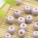 Round porcelain beads - Colour - 6mm