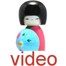 Videos of Japanese girl dolls