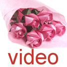 Videos of Six rose bouquet